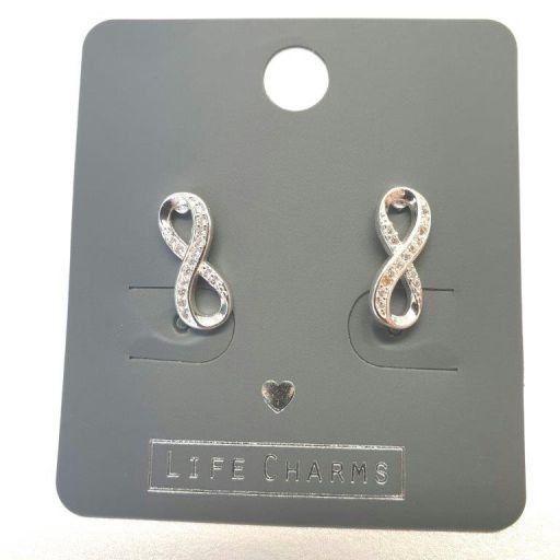 Life Charms - EAR160 - Oorbellen - CZ Infinity