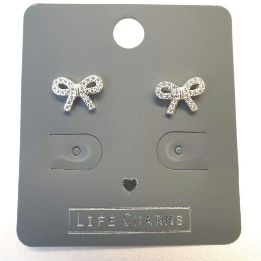 Life Charms - EAR163 - Oorbellen - CZ Pretty Bows