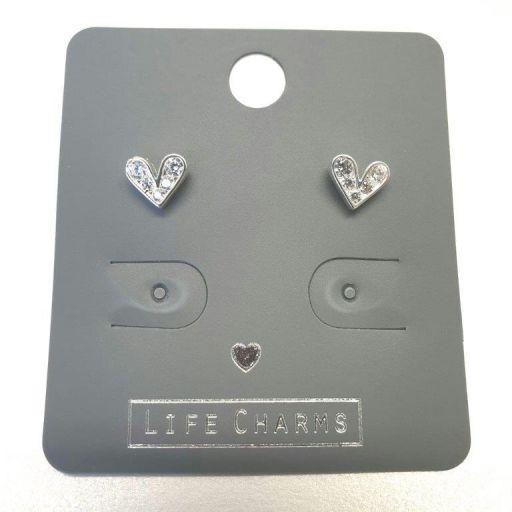 Life Charms - EAR166 - Oorbellen - Cute CZ Hearts