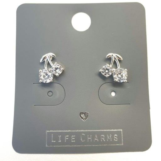 Life Charms - EAR174 - Oorbellen - CZ Cherry Drops
