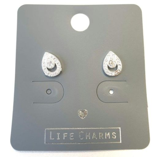 Life Charms - EAR190 - Oorbellen - CZ Teardrop