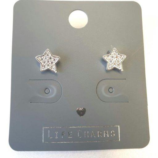 Life Charms - EAR191- Oorbellen - CZ Stardust