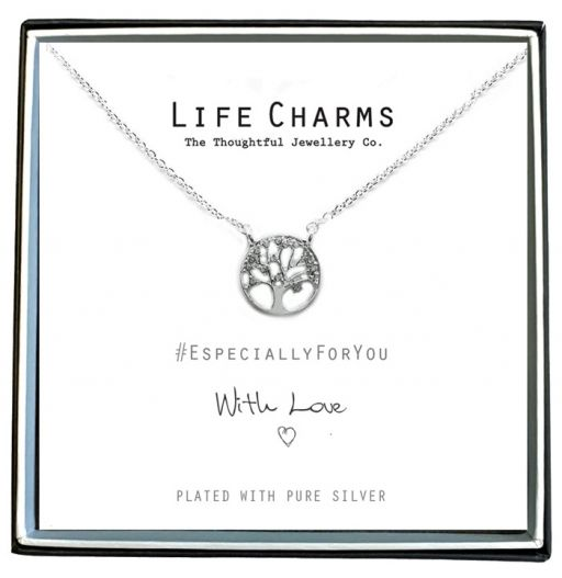 Life Charms - EFY050N - Verzilverde collier - Tree of Life