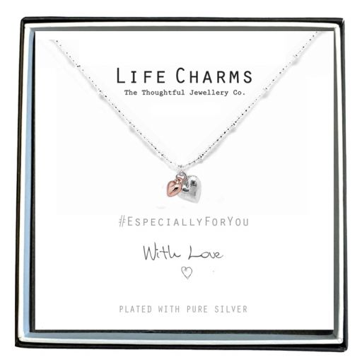 Life Charms - EFY008N - Necklace Puffed Hearts Mix
