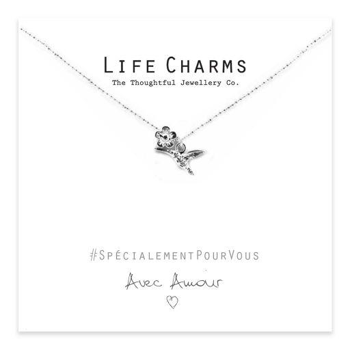 Life Charms - EFY009NF - coeur et cristal