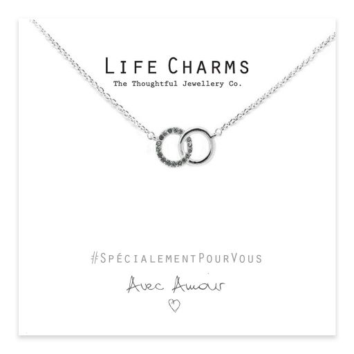 Life Charms - EFY017N - Necklace Crystal Rings