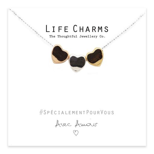 Life Charms - EFY018N - Necklace 3 Heart