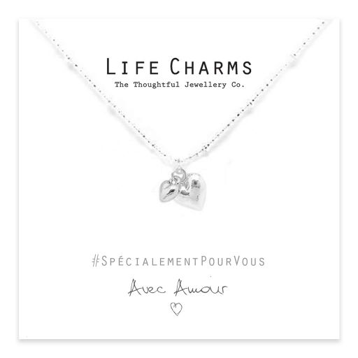Life Charms - EFY021N - Necklace Silver puffed Heart