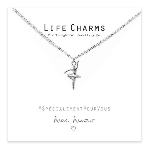 Life Charms - EFY035N - Necklace Silver Ballerina