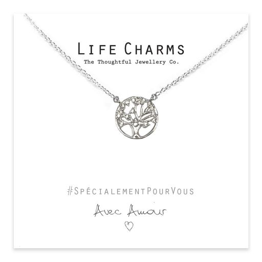 Life Charms - EFY050N - Necklace Silver Crystal Tree of Life