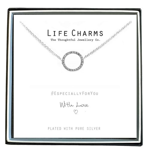 480452 - Life Charms - EFY052N - Necklace Silver Crystal Circle