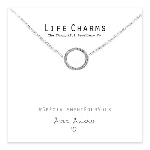 Life Charms - EFY052N - Necklace Silver Crystal Circle