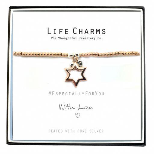 Life Charms - EFYENCOO2STAR - Bracelet Rose Gold Star bracelet