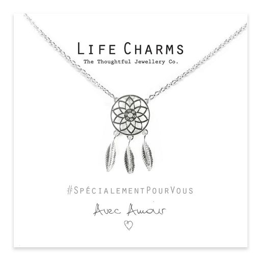 Life Charms - ELJN0059 - Necklace Silver Dream Catcher