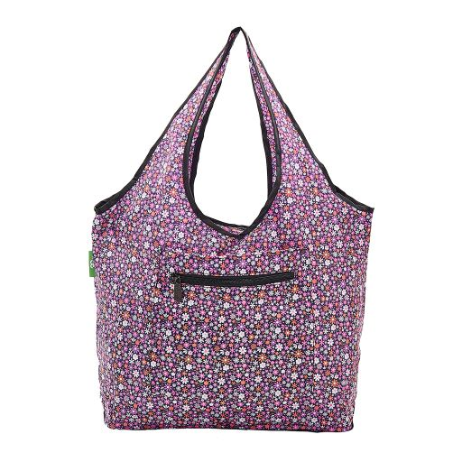 Eco Chic - Foldable Weekend Bag - F01PP - Purple Ditsy