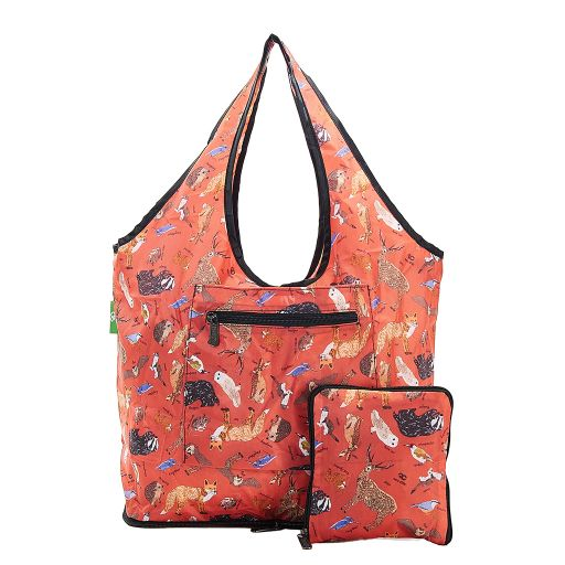 Eco Chic - Foldable Weekend Bag - F02RD - Red Woodland