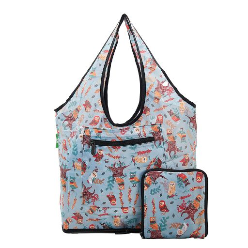 Eco Chic - Foldable Weekend Bag - F03BU - Blue Owl