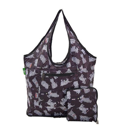 Eco Chic - Foldable Weekend Bag - F04BK - Black Scatty Scotty