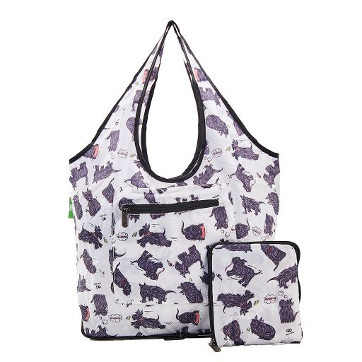 Eco Chic - Foldable Weekend Bag - F04WT - White Scatty Scotty