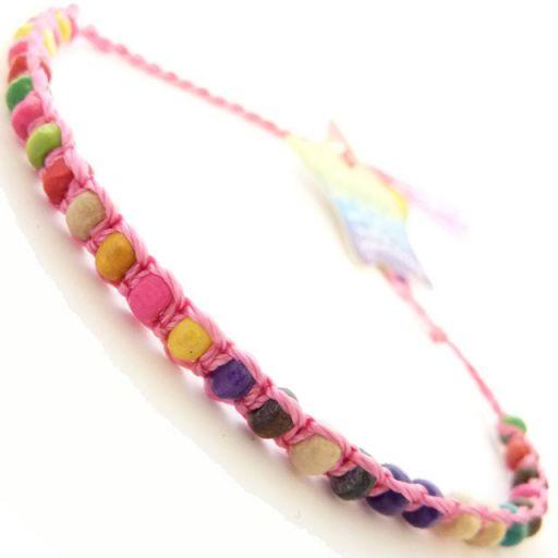 Friendship Bracelet - A6 Candy Pink