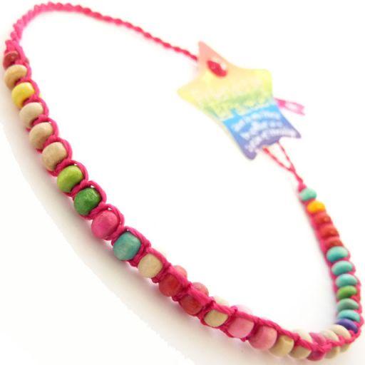 Friendship Bracelet - A8 Dark Pink