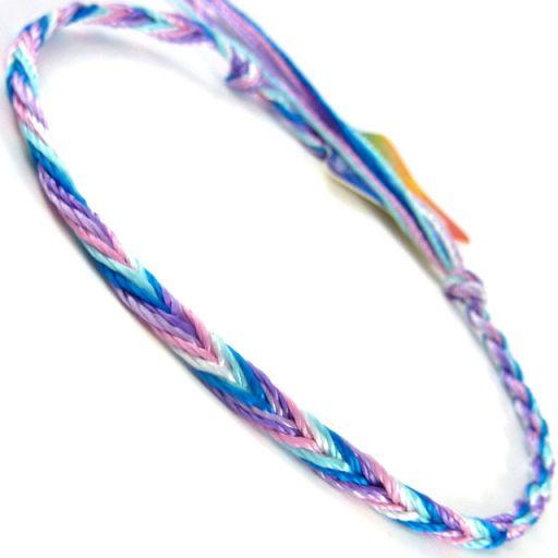 660035 - WB Friendship Bracelet - D5 Pink/Purple/Blue