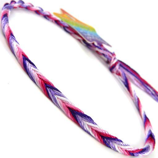 660037 - WB Friendship Bracelet - D7 Pink/Purple