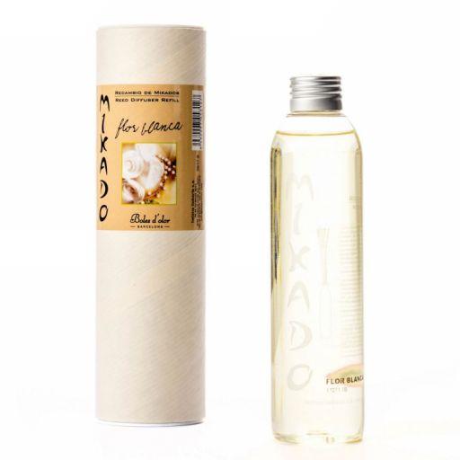 Boles d'olor Woodies navulling geurolie geurstokjes - Flor Blanca - Witte Bloemen
