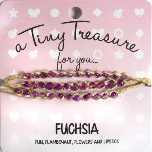 Tiny Treasure armband - Fuchsia