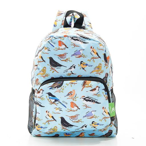 Eco Chic - Mini Backpack - G06BU - Blue - Wild Birds