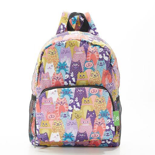 Eco Chic - Mini Backpack - G07ME - Multipli - Cats