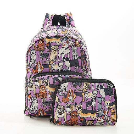 Eco Chic - Mini Backpack - G14LC- Lilac - Dogs