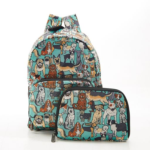 Eco Chic - Mini Backpack - G14TL- Teal - Dogs