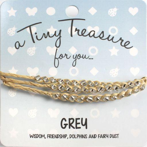 Tiny Treasure armband - Grey