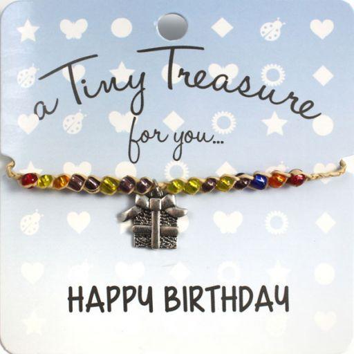 Tiny Treasure armband - Happy Birthday
