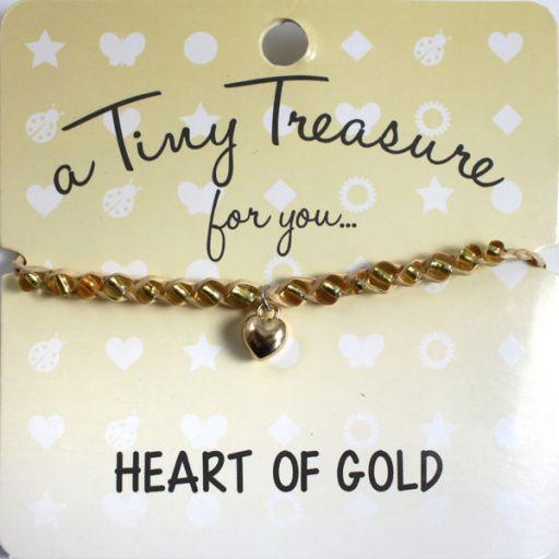 Tiny Treasure armband - Heart of Gold
