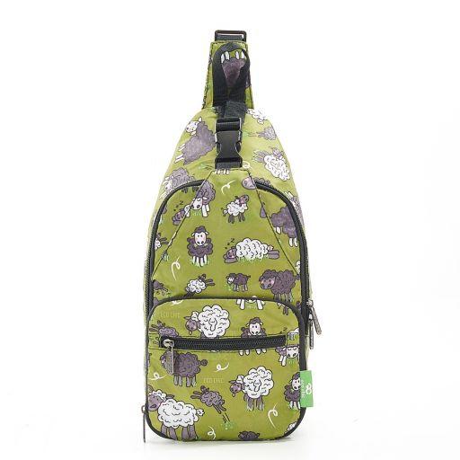Eco Chic - Cross Body Bag - I12GN - Green Sheep