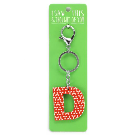 Keyring - I saw this & thought of You - D