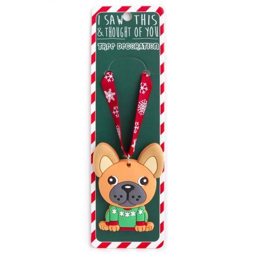 ISXM0002 - Tree Decoration - French Bulldog