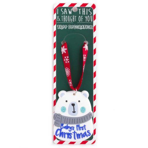 ISXM0048 - Tree Decoration - Babys 1st Christmas