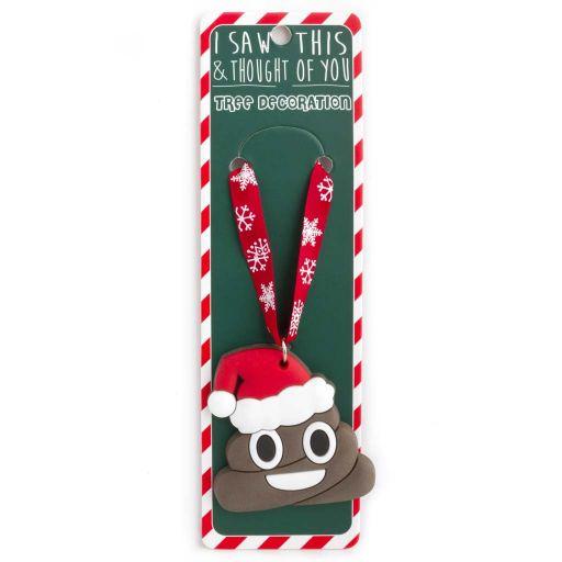 ISXM0052- Tree Decoration - Smiley Poop