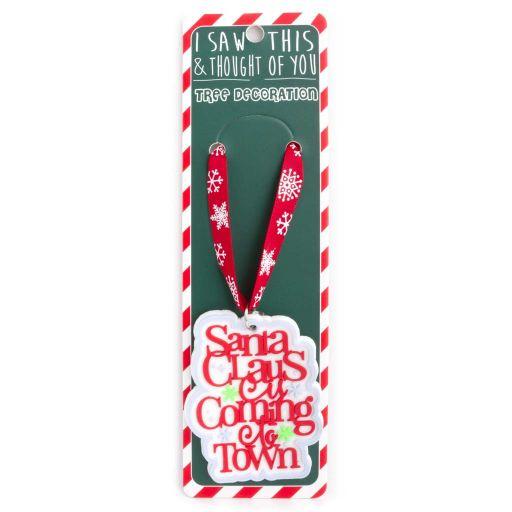 ISXM0108- Tree Decoration - Santa Claus is coming