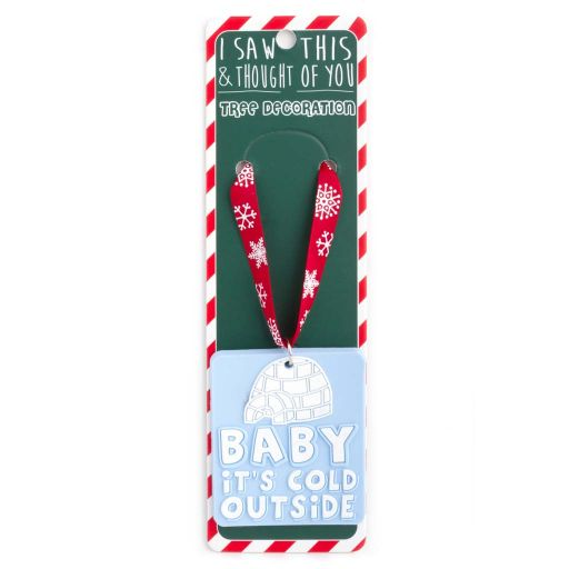 ISXM0113 Tree Decoration - Baby Is it Cold Outside