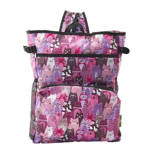 Eco Chic - Backpack Cooler (rugzak koeltas) - J07PP - Purple Cats