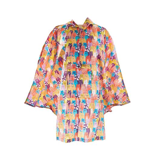 Eco Chic - Poncho (L) - L06ME - Multiple Stacking Cats