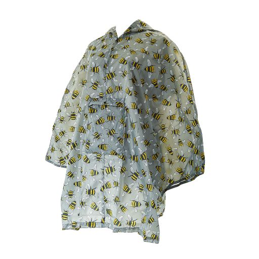 Eco Chic - Poncho (L) - L07GY - Grey Bees