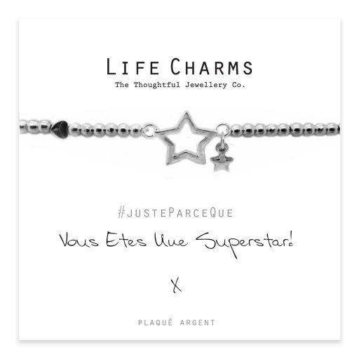 Life Charms FR - LC003BWF - Just because - Vous Êtes Une Superstar