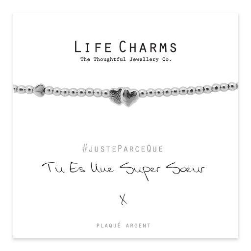 Life Charms FR - LC006BWF - Just because - Vous Êtes Une Super Sœur