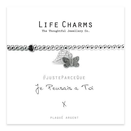 Life Charms FR - LC007BWF - Just because - Je Pensais À Toi