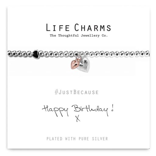 480208-1 - Life Charms - LC008BBW - Just because - Happy Birthday